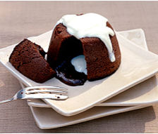 Delia Smith's molten chocolate puddings