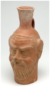 Silenus-head vase, 5th c. CE