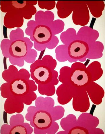 Poppy fabric: Marimekko, 1964