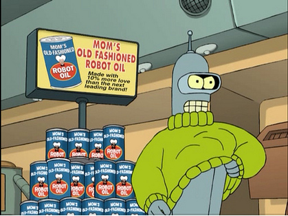 futurama: bender and robot oil