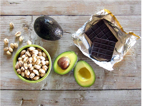 take avocado and some other stuff, mix, and then...