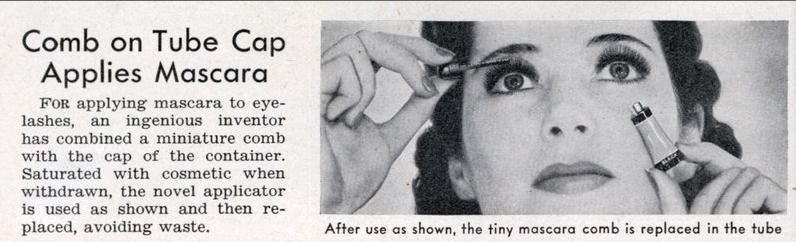 vintage mascara ad, 1939