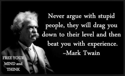 mark twain vs stupid people
