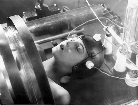 "Maria (Fritz Lang, ""Metropolis"": 1927); easily confused with the cyberlady of the same name in ""The Sound of Music"""