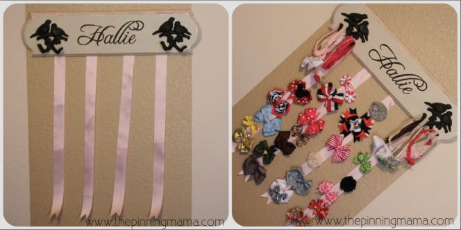 hanging hair bow board