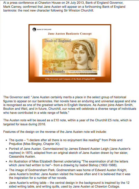 bank of england jane austen