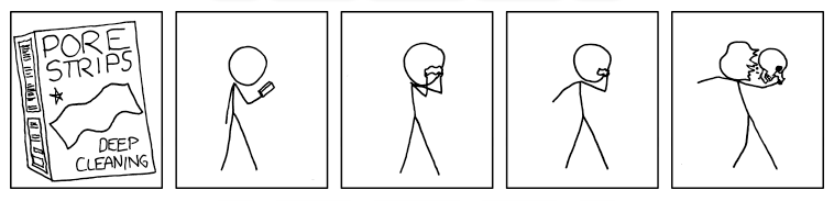 xkcd deep cleaning pore strips