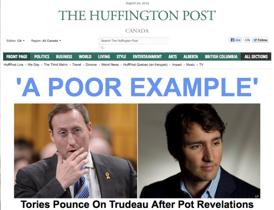 huffpo front page